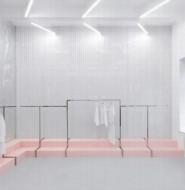 一个极简主义的秘密商店,Blushhh商店设计