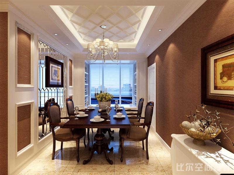 欧式风格三室二厅设计方案1