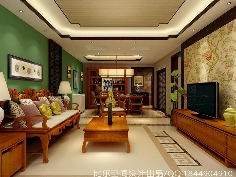 新中式风格三室二厅设计方案