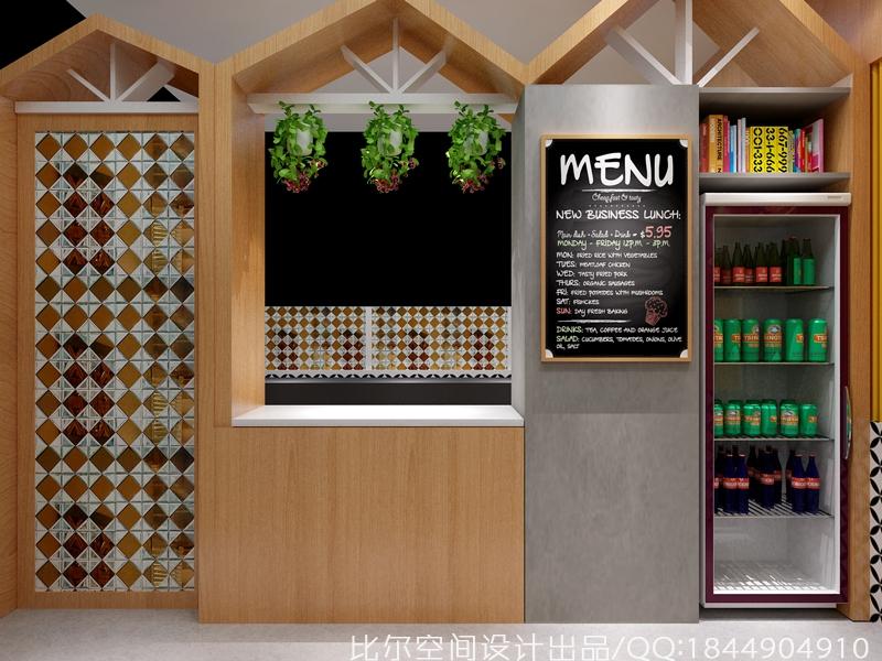美食档口设计   小吃店设计
